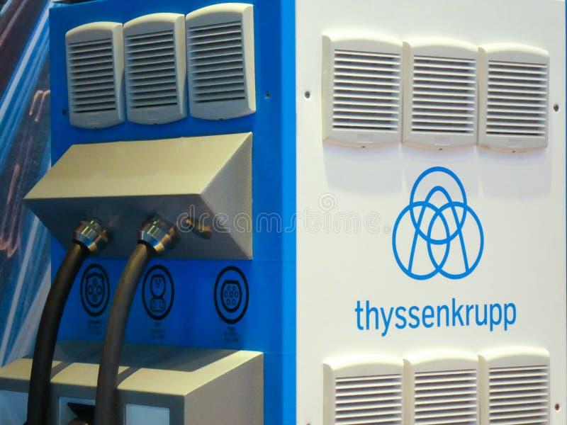 Thyssenkrupp maszyna obraz royalty free