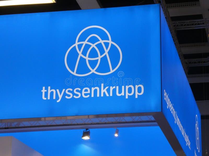 Thyssenkrupp signage fotografia royalty free