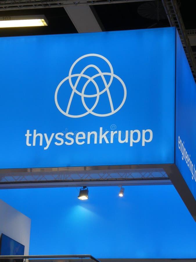 Thyssenkrupp signage zdjęcie stock