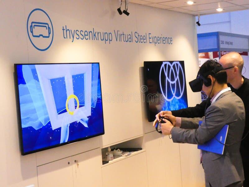 Thyssenkrupp Wirtualny Stalowy doświadczenie obrazy royalty free