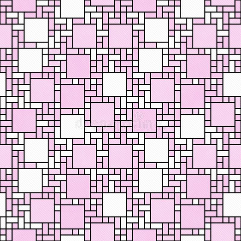 Ti геометрического дизайна конспекта мозаики розового, белого и черного квадрата иллюстрация вектора