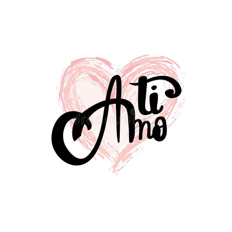 Картинка с розой я люблю тебя на итальянском языке, надписью самая