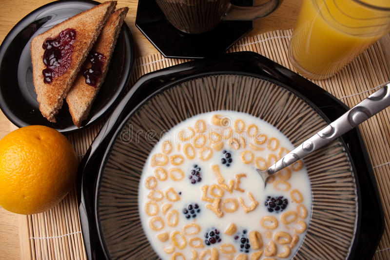 Ti amo cereale immagine stock libera da diritti
