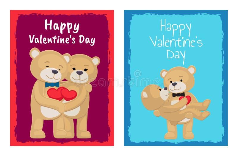 Ti amo e me Teddy Bears Vector royalty illustrazione gratis