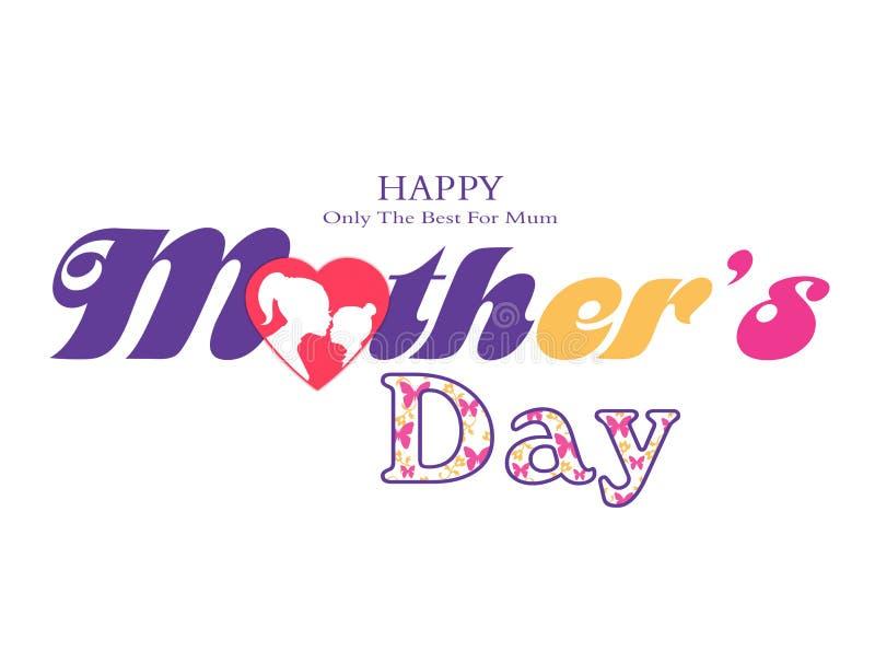 ?ti amo mamma ?, grafici di giorno di madri illustrazione di stock