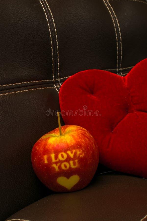 Ti amo mela immagini stock