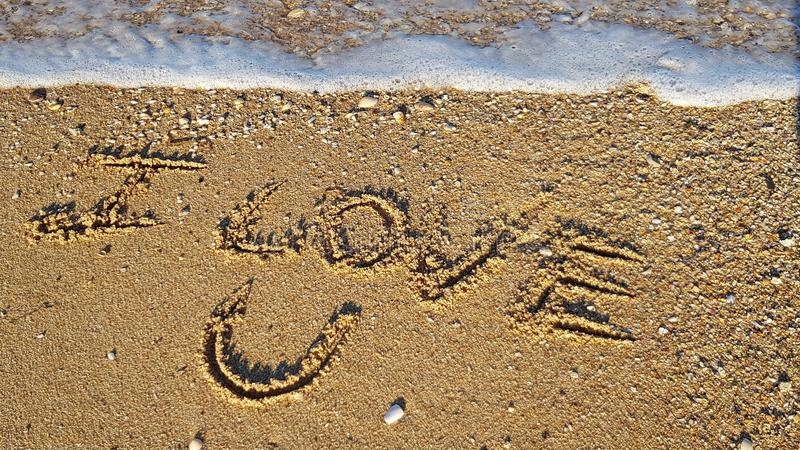 Ti amo sabbia immagini stock libere da diritti