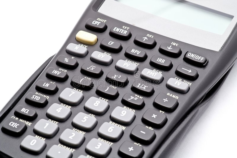 TI Calculator. Texas Instrument Business Analyst Calculator royalty free stock photography