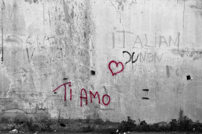 Tiamo, ich liebe dich stock abbildung