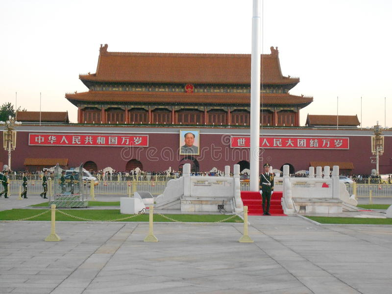 Tian'anmen square. Ming God had not seen for 20 consecutive years, leading to an unprecedented increase in the degree of political corruption. He also wantonly stock image