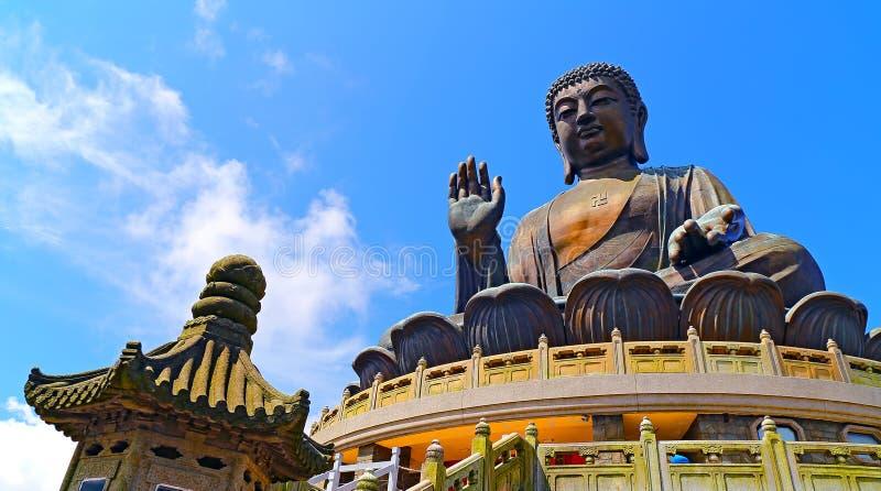 Tian Bouddha tan, Hong Kong photographie stock libre de droits