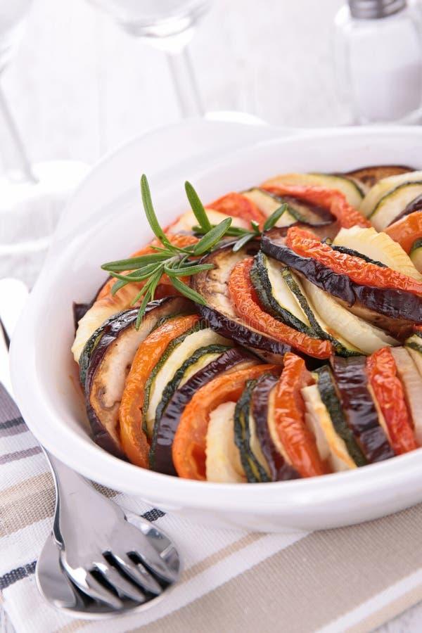 Tian cuit au four par légume photo stock