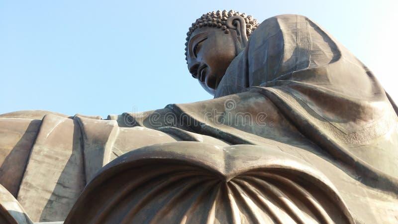 Tian dębnika Buddha statua, Lantau wyspa, Dzwoniący Chung, Hong Kong obraz stock