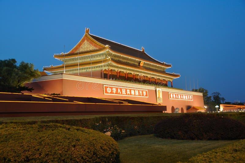 Tian-een-mensen (Tien mensen) Peking stock foto's