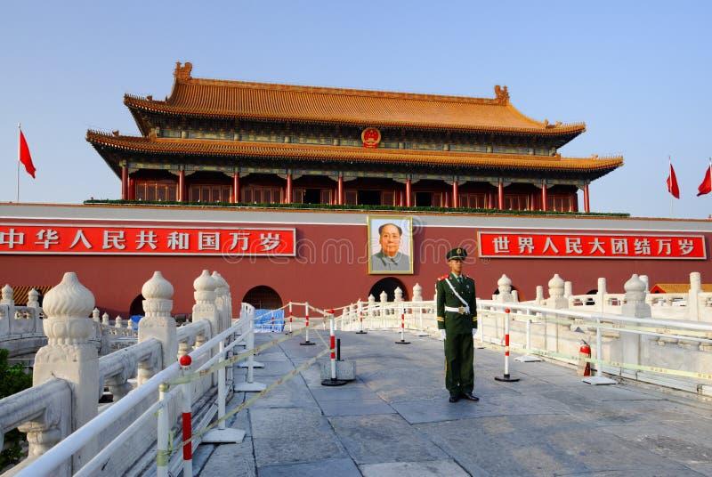 Tian een Poort van Mensen van Peking stock fotografie