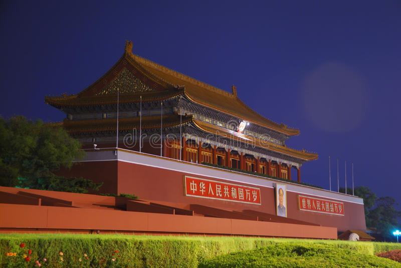 Tian'an Men Gate in Beijing royalty free stock images