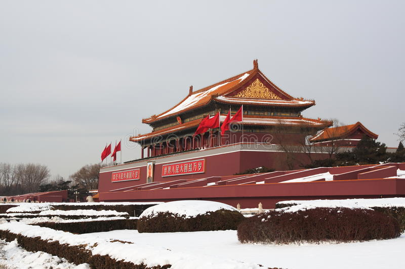 Download Tian An Men(Gate) Of Forbidden City Stock Image - Image: 12616885