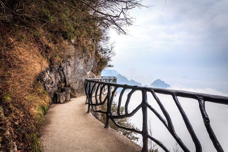 Tian Men Mountains nuvoloso a Zhangjiajie fotografia stock