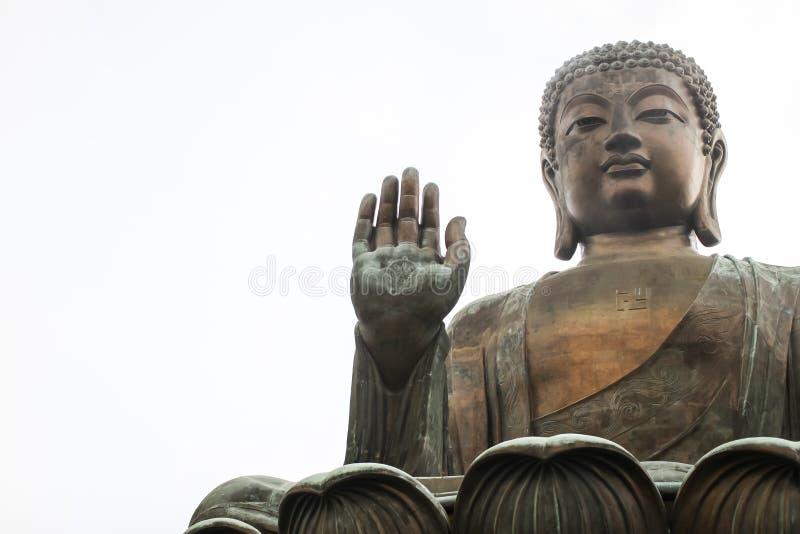 Tian Tan Buddha the Big Buddha is large bronze statue of a Buddha Amoghasiddhi in Hong Kong. stock photography