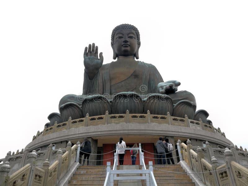 Tian Tan Buddha in Hong Kong royalty free stock photo