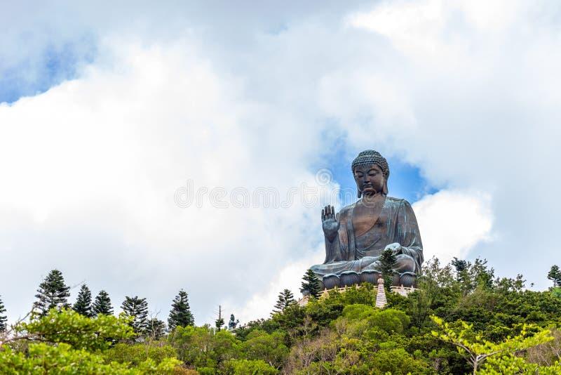 Tian Tan Buddha, Budda grande, Tian Tan Buddha enorme em Po Lin Monastery em Hong Kong imagens de stock