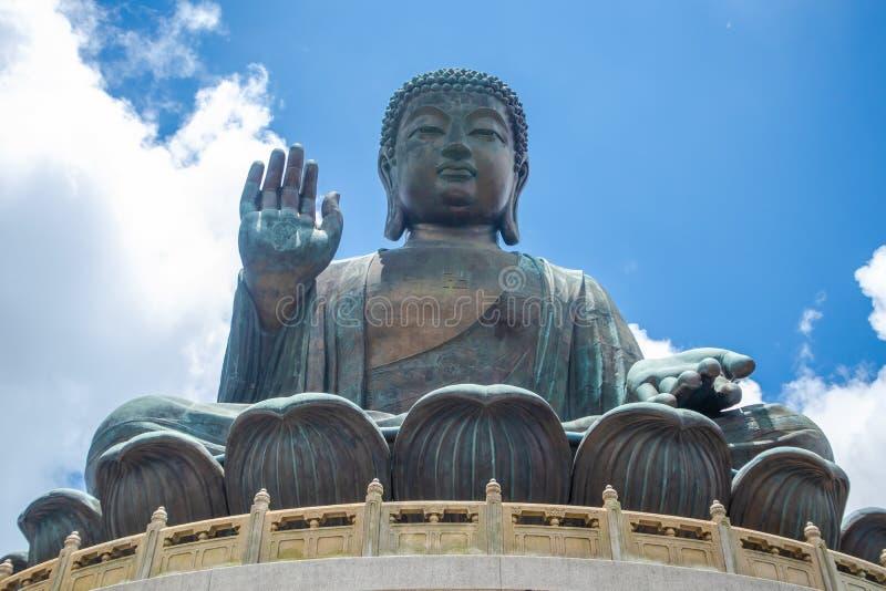 Tian Tan Buddha, Budda grande, Tian Tan Buddha enorme em Po Lin Monastery em Hong Kong fotografia de stock