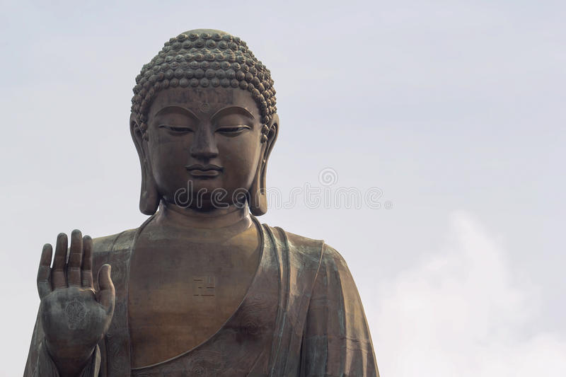 Tian Tan Buddha Closeup photo stock
