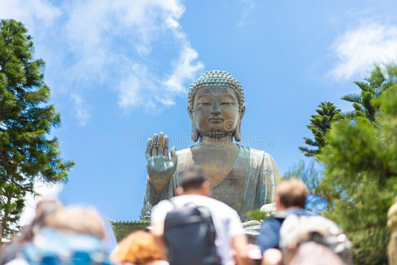 Tian Tan Buddha, großes Budda, enorme Tian Tan Buddha an PO Lin Monastery in Hong Kong lizenzfreie stockfotos
