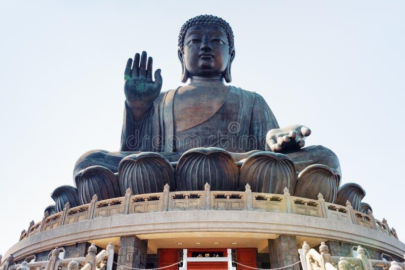 Tian Tan Buddha in Hong Kong lizenzfreie stockbilder
