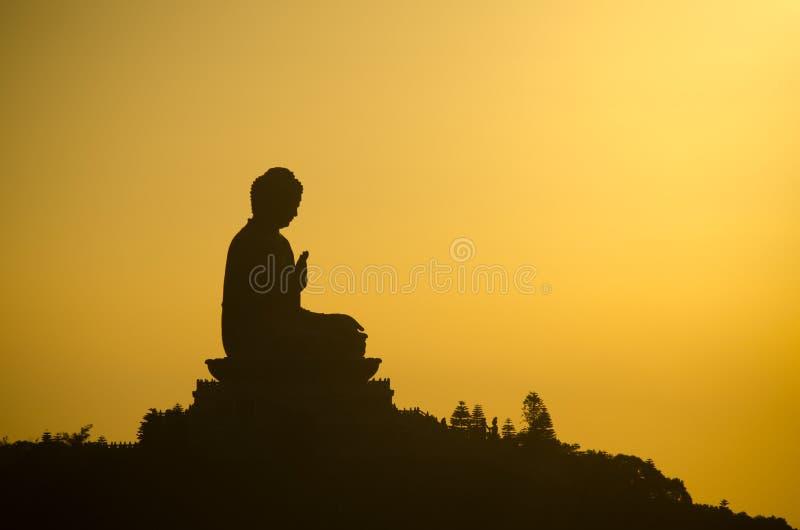 Tian Tan Buddha na ilha de Lantau, Hong Kong fotos de stock
