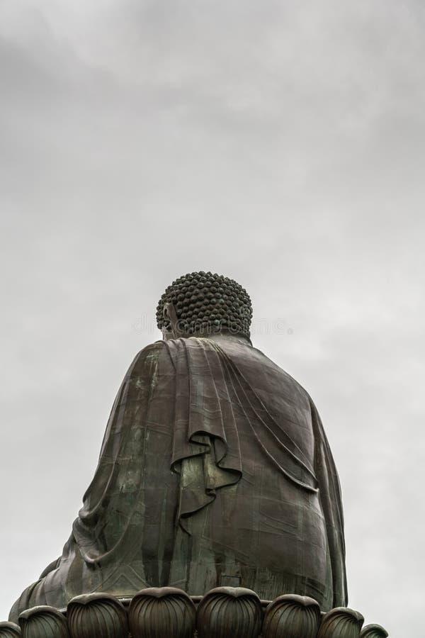 Tian Tan Buddha zeigt seins zurück, Hong Kong China stockfoto