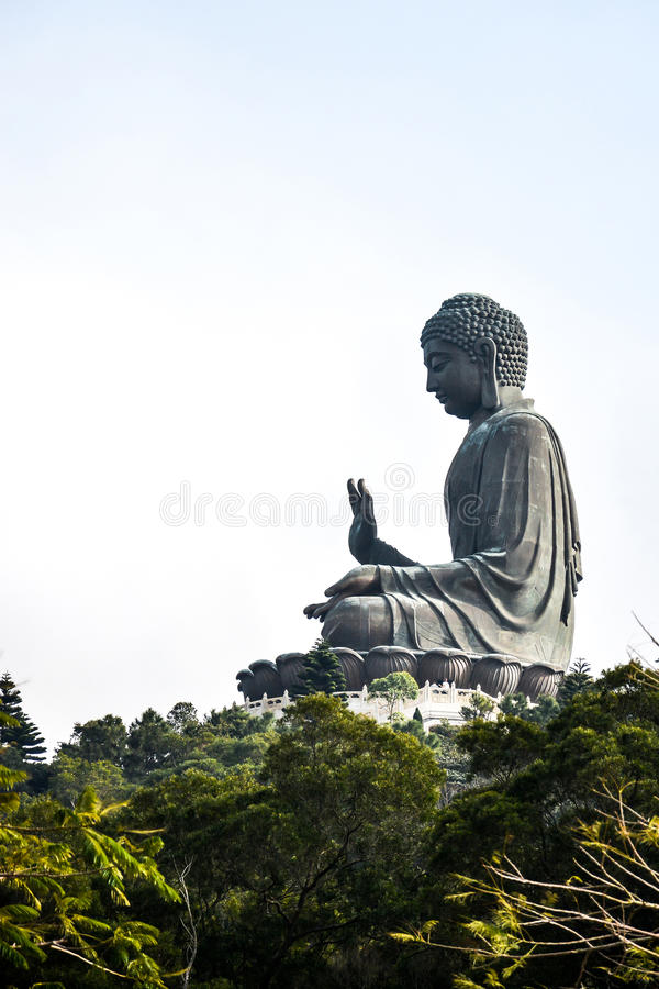 Tian Tan Giant Buddha em Hong Kong fotos de stock