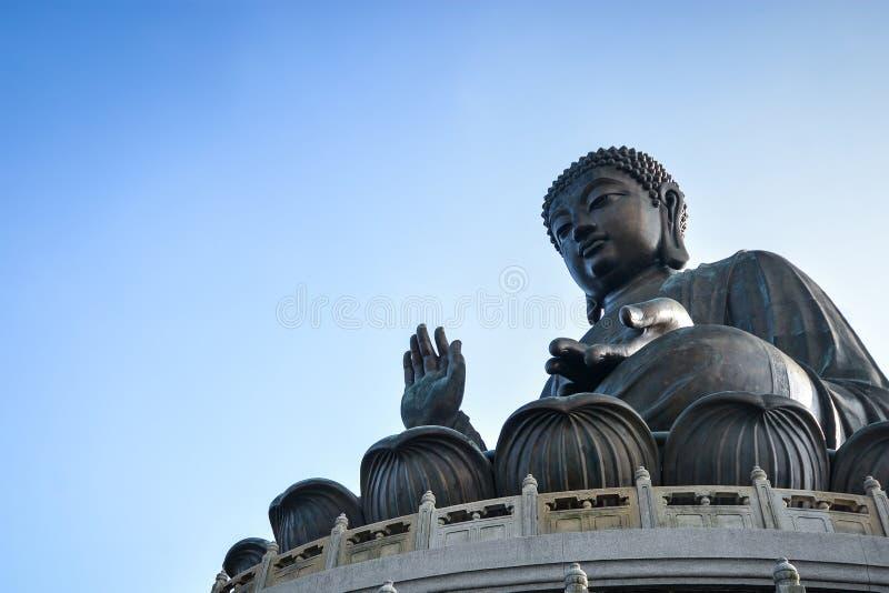 Tian Tan Giant Buddha in Hong Kong lizenzfreies stockfoto