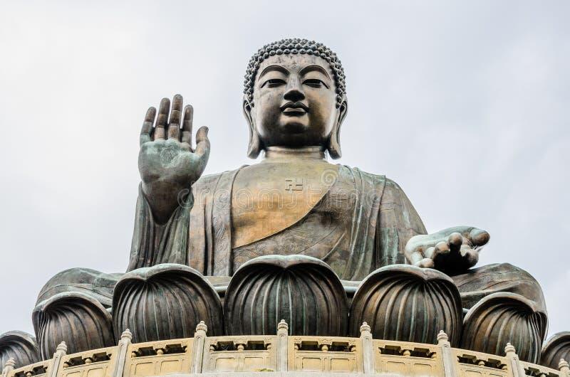 Tian Tan, grand Bouddha, statue en bronze images libres de droits