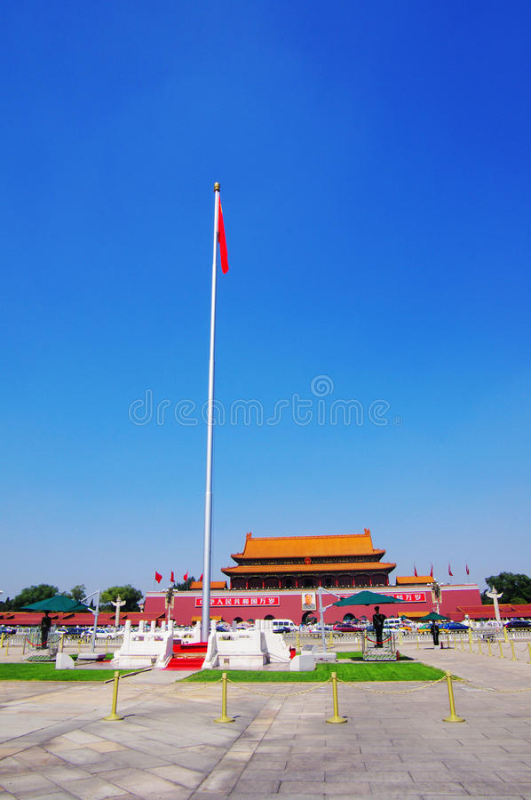 Tian une porte d'hommes à Pékin Chine photo libre de droits