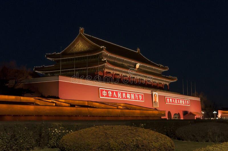 TianAn-Tor von Peking lizenzfreies stockfoto