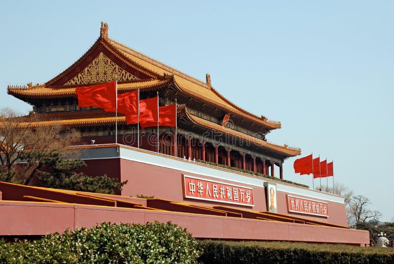 Tiananmen brama przy plac tiananmen, Pekin, Chiny obrazy royalty free