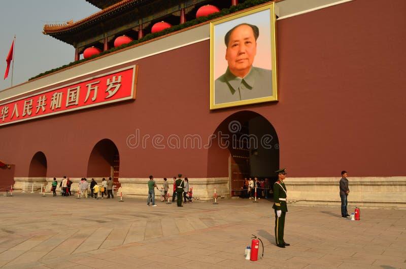 Tiananmen bramy wierza, plac tiananmen obraz royalty free