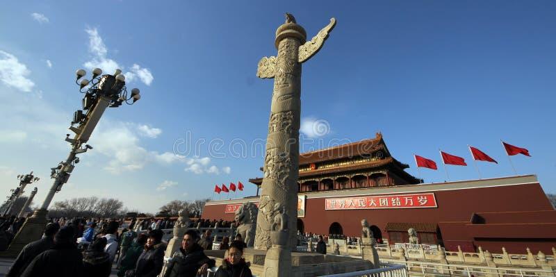 Tiananmen fyrkant, Peking royaltyfri bild