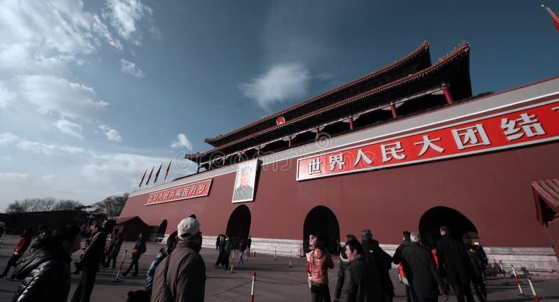 Tiananmen fyrkant, Peking arkivbilder
