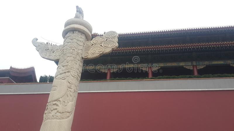 Tiananmen fyrkant Pole av tro i Peking, Kina arkivbild