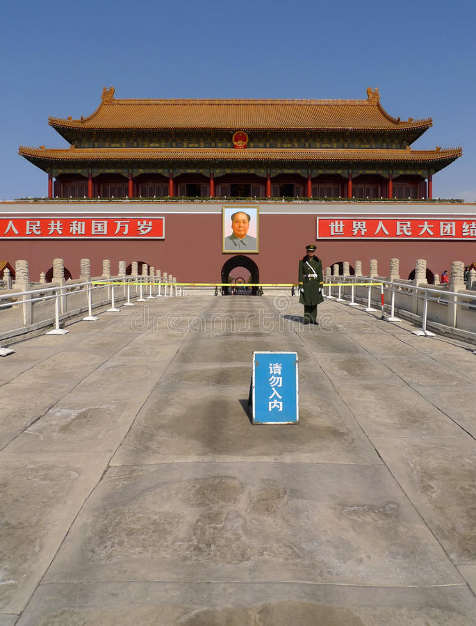 Tiananmen Gate To The Forbidden City In Beijing Editorial Photography