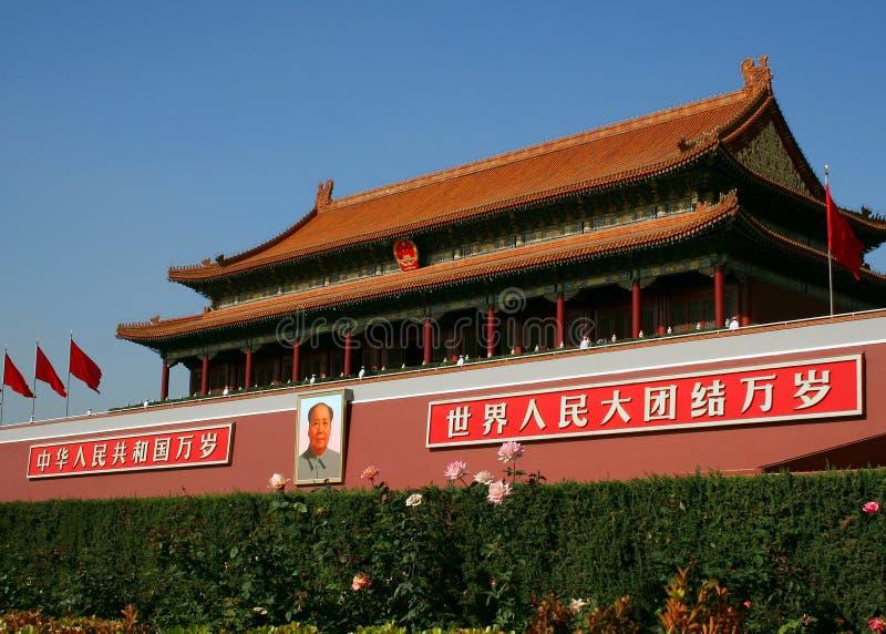 Tiananmen-Gatter lizenzfreie stockbilder