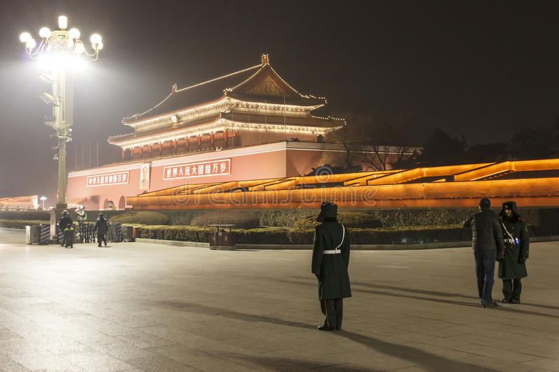 Tiananmen And  Liberation Army Editorial Photo