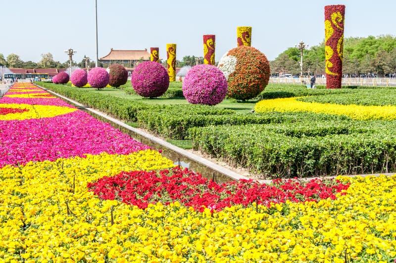 Tiananmen-Platz-Garten stockbild