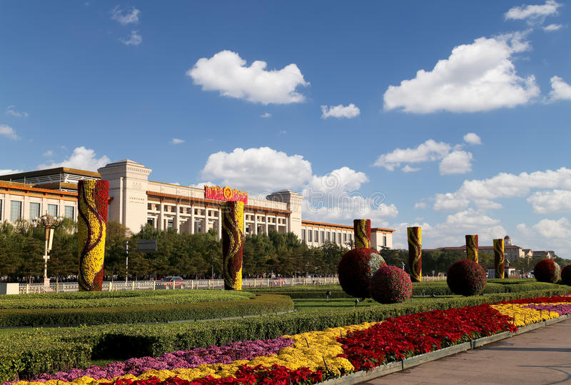 Tiananmen-Platz -- ist ein Großstadtquadrat in der Mitte von Peking, China stockfotografie