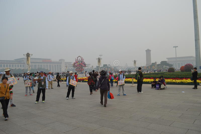 Tiananmen-Platz Pekings China stockbild