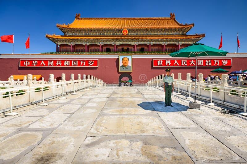 Tiananmen port arkivfoton