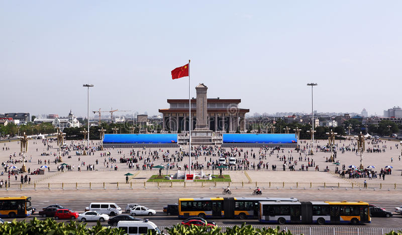 Tiananmen Square in Beijing, China stock images