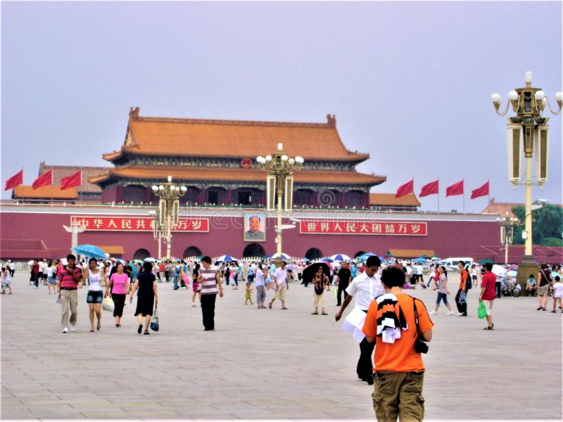 Tiananmen square in Beijing, China. Forbidden City, tourism and landmark royalty free stock images